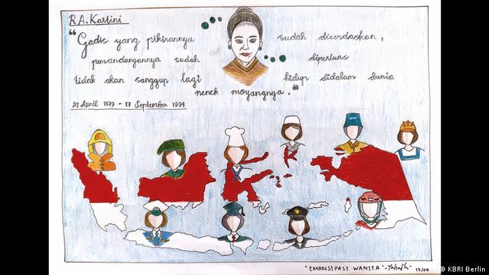 Gambar dengan tema Emansipasi Wanita - Zalzadila Syahalfarabi di Berlin (KBRI Berlin)