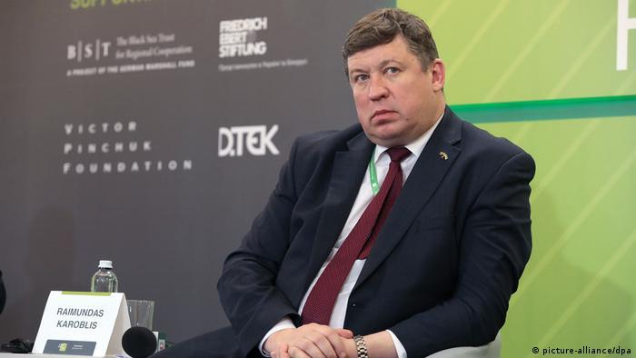 Lithuania's Defence Minister Raimundas Karoblis Litauen