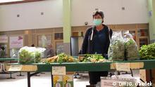 Markt in Zagreb Kroatien, Marija Mikec, Landwirtin aus Suhopoljska Borova/Kroatien