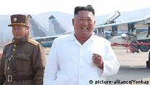Nordkorea Kim Jong-un Besuch Luftabwehr Stützpunkt