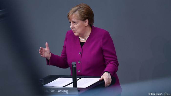 Angela Merkel Rede an die Nation zur Corona-Krise Berlin Bundestag