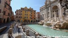 Italien Rom Trevi-Brunnen