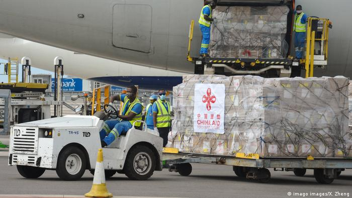 Chinese medical supplies shipped to Africa
