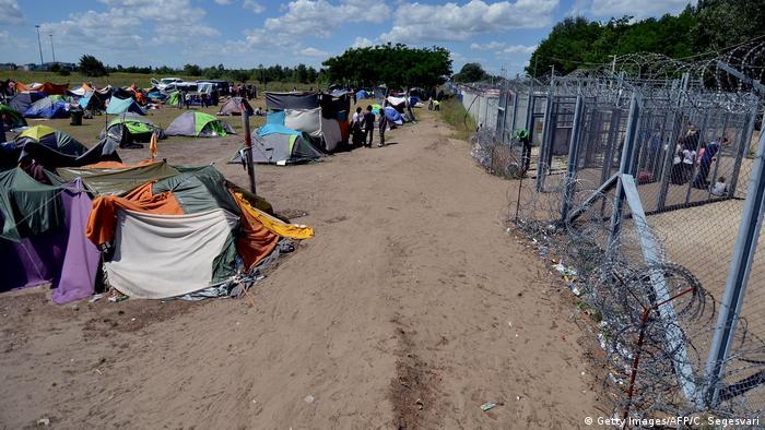 اقامتگاه پناهجویان در مجارستان در نزدیکی مرز صربستان