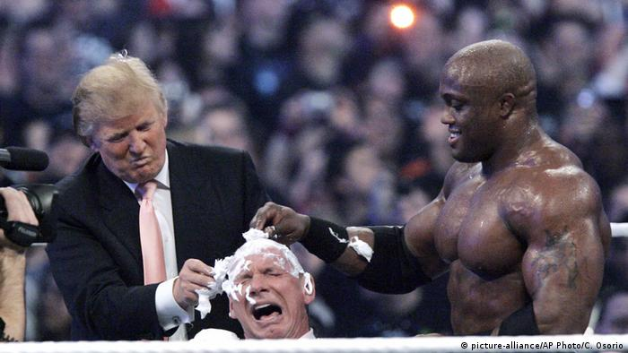 Donald Trump, Vince McMahon und Bobby Lashley