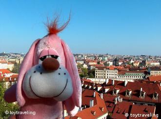 A soft toy in Prague