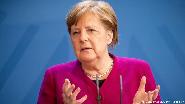 Deutschland Coronavirus PK Merkel nach Videokonferenz EU Rat