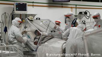 Brasilien Manaus Coronakrise COVID-19 Patient