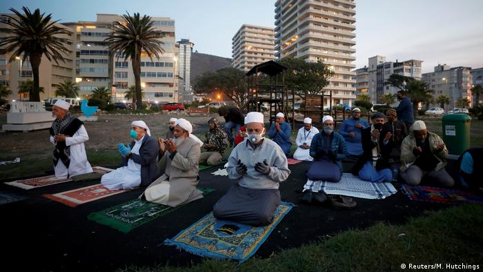 Muslim clerics praying during a nationwide lockdown in Cape Town, South Africa