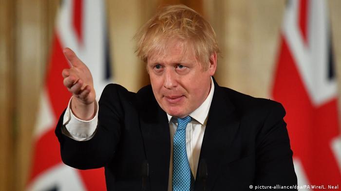 Boris Johnson Premierminister von Großbritannien PK Coronavirus ARCHIV