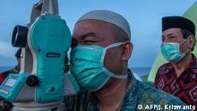 BdTD Indonesien Beginn von Ramadan mit Theodolit geprüft
