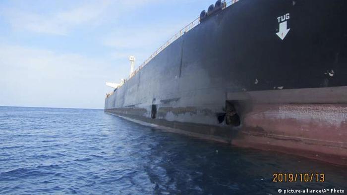 نفتکش ایرانی سابیتی که اکتبر ۲۰۱۹ در دریای سرخ هدف حمله قرار گرفت. عکس از آرشیو