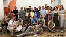 Participants and trainers at the Summer Media Camp 2019 that took place in the Odesa Media Hub