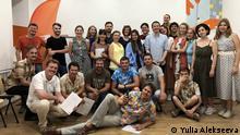 Teilnehmende und Trainer der Summer School im Odesa Media Hub.