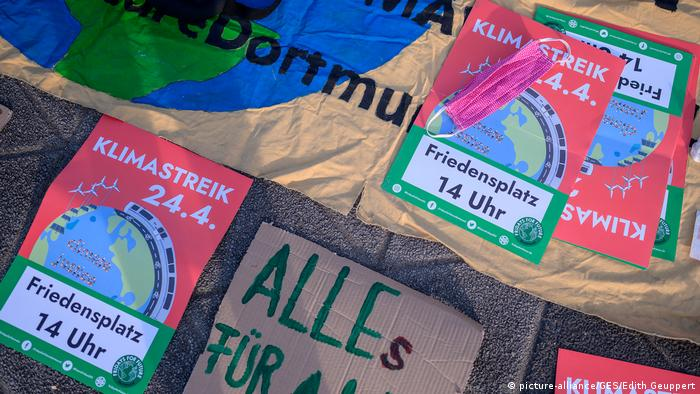 Fridays for Future protest banners in Germany