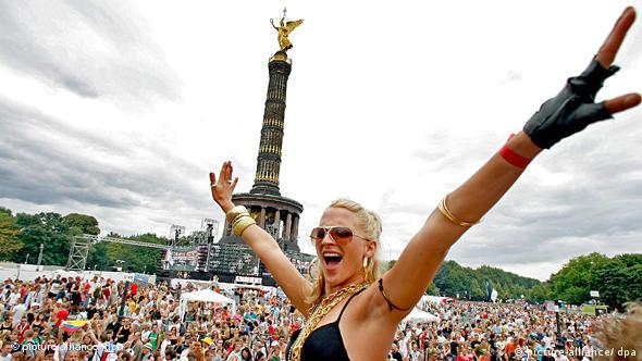 A scene from the Love Parade in Berlin