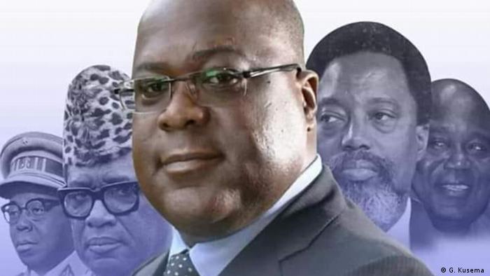 Demokratische Republik Kongo Kinshasa | Präsidenten | Fotomontage