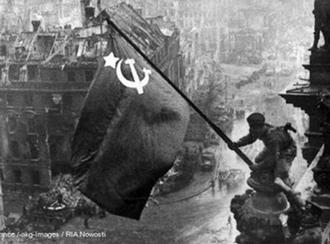 Май 1945 года. Знамя Победы над Рейхстагом