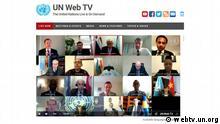 ACHTUNG: Nur zur abgesprochenen Berichterstattung! *** Security Council Meeting on Kosovo, 24 April 2020. Open VTC. Quelle: http://webtv.un.org/live/watch/united-nations-mission-in-kosovo-unmik-security-council-open-vtc/6151918675001/?term=