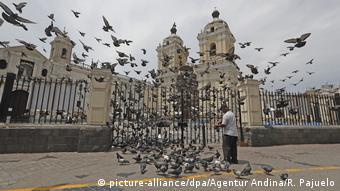 Südamerika Coronavirus Rückgang Umweltverschmutzung Peru Tauben (picture-alliance/dpa/Agentur Andina/R. Pajuelo)