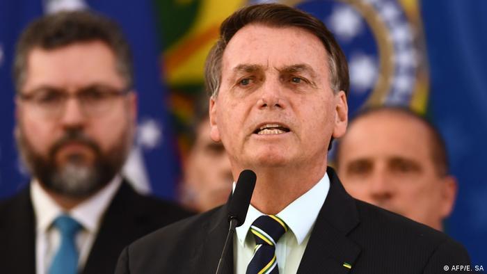 Brasilien PK Coronavirus Jair Bolsonaro (AFP/E. SA)