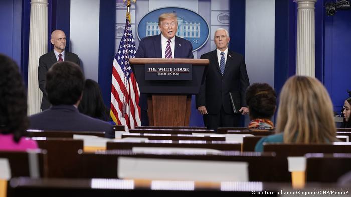Washington Trump PK Coronavirus Taskforce (picture-alliance/Kleponis/CNP/MediaP)