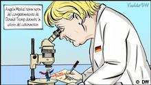 Karikatur von Vladdo - Fallstudie estudio de caso