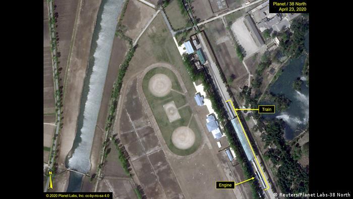 Satellite image of Kim Jong Un's train