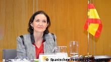 Spanien Ministerin Reyes Maroto beim virtuellen G20-Treffen