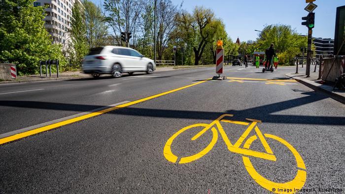 Nuevas ciclovías en Berlín a raíz de la pandemia