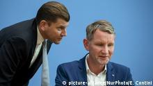 Deutschland Bundespressekonferenz 2019   AfD, Christian Lüth & Björn Höcke