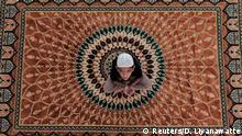 Ramadan Duaa junge betet in einer Moschee Sri Lanka