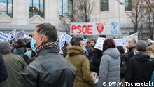 Spanien Madrid Protest Kernbomber Unfall