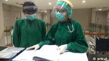 Indonesien Jakarta | Coronavirus | Ärzte in einer Privatklinik