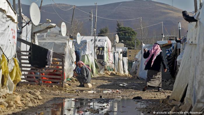 A refugee camp in Lebanon during the global coronavirus pandemic