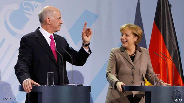 George Papandreou und Angela Merkel in Berlin 05.03.2010 Flash-Galerie