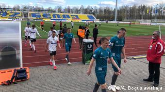 Игра национального чемпионата по футболу в Беларуси