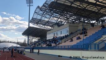 Трибуна стадиона в Жодино