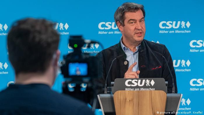 Deutschland München | Coronavirus | Markus Söder, Ministerpräsident