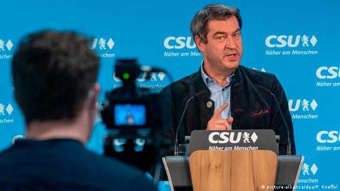 Deutschland München   Coronavirus   Markus Söder, Ministerpräsident (picture-alliance/dpa/P. Kneffel)