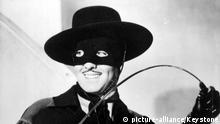 1000707 (9002126) Tyrone POWER (*05.05.1914 - 15.11.1958), amerikanischer Schauspieler, in dem amerikanischen Spielfilm Im Zeichen des Zorro, 1940.   Verwendung weltweit