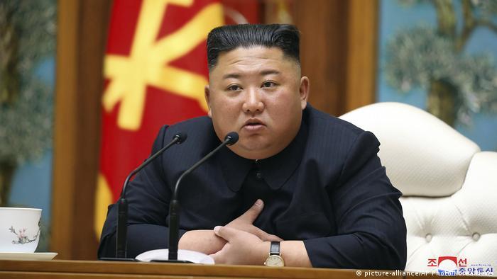 Nordkorea | Machthaber Kim Jong Un (picture-alliance/AP Photo/Korea News)