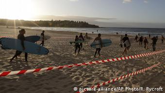 Ограждения на пляже в Австралии