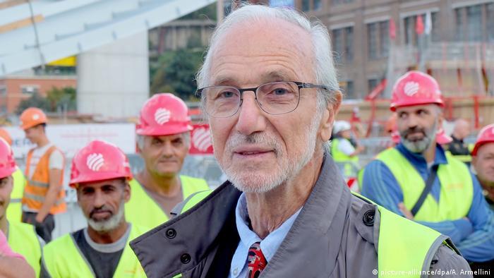 Die neue Brücke ist sein Kind: Architekt Renzo Piano (Foto: picture-alliance/dpa/A. Armellini)