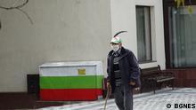 Bulgarien | Coronakrise: Mann mit Mundschutz