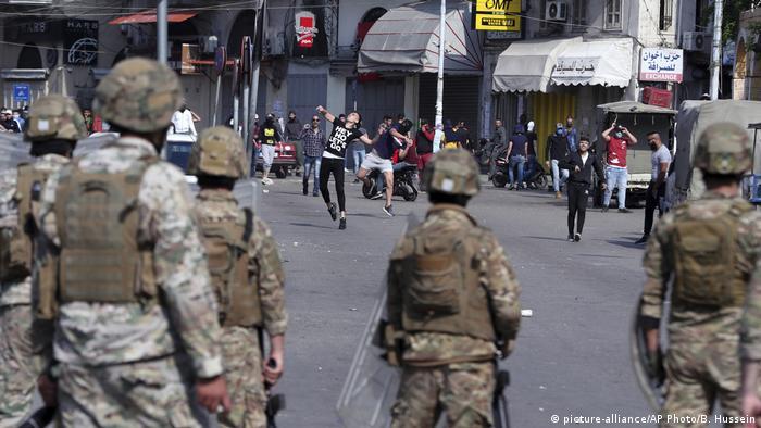 Anti-Regierungsproteste in Tripoli (Foto: picture-alliance/AP Photo/B. Hussein)