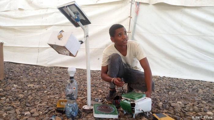 Äthiopien Addis Abeba | Coronavirus | Ezedin, Erfinder (DW/T. Filate)