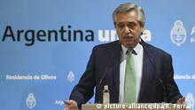 Argentinien Buenos Aires | Alberto Fernandez bei Pressekonferenz