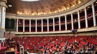 Зал заседаний парламента Франции
