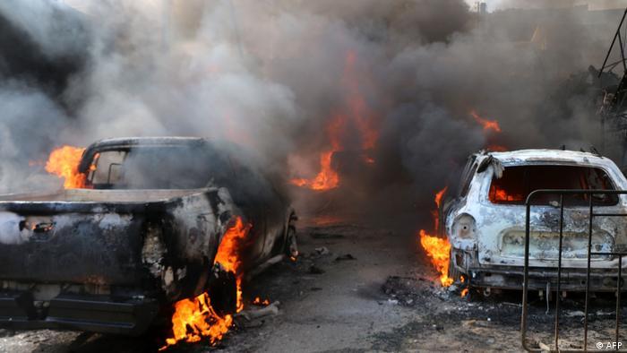 Explosion eines Tanklasters in Syrien